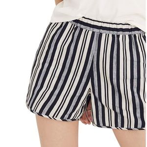 Madewell stripe pull on shorts